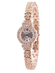 Недорогие -Жен. Нарядные часы / Наручные часы Китайский Новый дизайн / Повседневные часы / Имитация Алмазный сплав Группа На каждый день / Мода Серебристый металл / Розовое золото