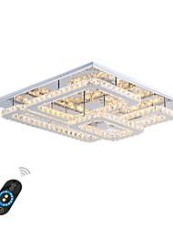 Недорогие -Монтаж заподлицо Рассеянное освещение - Хрусталь, LED, 110-120Вольт / 220-240Вольт, Теплый белый / Белый / Диммируемый с дистанционным управлением, Светодиодный источник света в комплекте / 20-30㎡