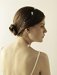 abordables -Mujer Elegante Conjunto de joyas - Perla Artificial Dulce Incluir Para la Cabeza / Pendientes colgantes Blanco Para Boda / Fiesta