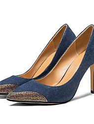 baratos -Mulheres Sapatos Jeans Verão Conforto Saltos Salto Agulha Preto / Azul