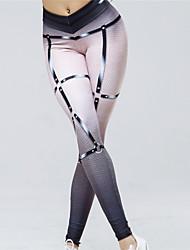economico -Per donna Sexy Pantaloni da yoga - Bianco Gli sport Di tendenza, Colore graduale e sfumato Calze / Collant / Cosciali Corsa, Fitness, Palestra Abbigliamento sportivo Traspirante, Butt Lift