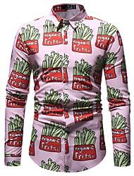 Недорогие -Муж. С принтом Рубашка Классический Геометрический принт