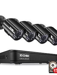 Недорогие -zosi 4ch hd-tvi 720p dvr встроенный 1tb hdd с 4шт hd 1280tvl крытый / открытый атмосферостойкие камеры cctv