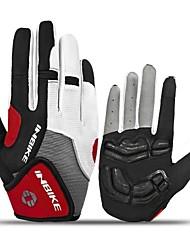 Недорогие -INBIKE Перчатки для велосипедистов Перчатки для горного велосипеда Горные велосипеды Дышащий Противозаносный Впитывает пот и влагу Защитный Спортивные перчатки Сетка Силиконовый гель Махровая ткань