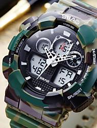 Недорогие -Муж. Спортивные часы электронные часы Цифровой Стеганная ПУ кожа Черный / Красный / Серый 30 m Защита от влаги Календарь Хронометр Аналого-цифровые На каждый день Мода - Красный Синий Темно-зеленый