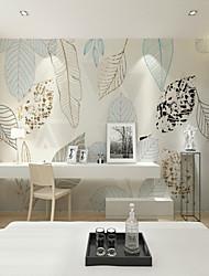 baratos -papel de parede / Mural Tela de pintura Revestimento de paredes - adesivo necessário Árvores / Folhas / Azulejo / Padrão