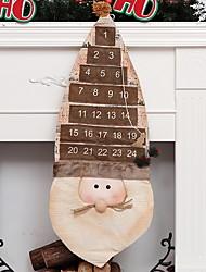 baratos -Enfeites de Natal Férias Tecido Quadrada Novidades Decoração de Natal