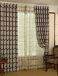 economico -A scorrimento Ad anello Con passanti in stoffa A piega doppia A piega singola Due pannelli Trattamento finestra Modern, Jacquard