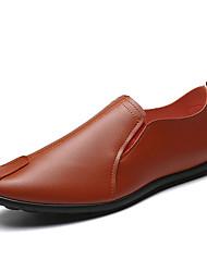 Недорогие -Муж. Наппа Leather Наступила зима Удобная обувь Мокасины и Свитер Белый / Черный / Коричневый