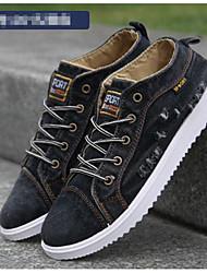 cheap -Men's Canvas Spring & Summer Comfort Sneakers Black / Dark Blue / Light Blue