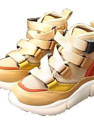 preiswerte -Jungen Schuhe Leinwand Herbst Komfort Sneakers für Weiß / Mandelfarben