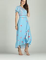 cheap -Suzanne Betro Women's Basic / Boho Sheath / Swing / Trumpet / Mermaid Dress - Floral Print