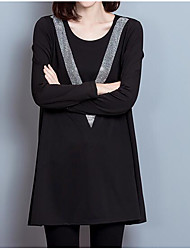 cheap -Women's Basic Little Black Dress - Solid Colored