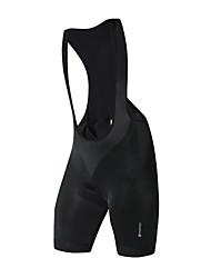Недорогие -Nuckily Муж. Велошорты с подкладкой Велоспорт Велошорты / Шорты с защитой / Нижняя часть Однотонный Спандекс Черный Одежда для велоспорта