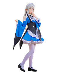 cheap -Inspired by Re:Zero Starting Life in Another World Emilia Anime Cosplay Costumes Cosplay Suits Bowknot Cravat / Dress / Collar For Women's Halloween Costumes