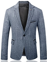 cheap -Men's Business Blazer-Striped