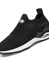 Недорогие -Муж. Комфортная обувь Полиуретан Осень Спортивная обувь Для прогулок Белый / Черный / Серый
