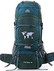 Недорогие -70 L Заплечный рюкзак - Пригодно для носки, Воздухопроницаемость На открытом воздухе Пешеходный туризм, Восхождение, Лыжи Нейлон Оранжевый, Темно-зеленый