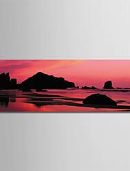 Недорогие -С картинкой Роликовые холсты - Пляж Фото Modern