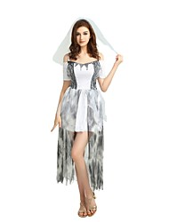 billige -Heks Dragter Dame Halloween / Karneval / Barnets Dag Festival / Højtider Halloween Kostumer Grå Ensfarvet / Halloween Halloween
