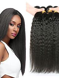 Недорогие -4 Связки Перуанские волосы Вытянутые Натуральные волосы / Необработанные натуральные волосы Подарки / Косплей Костюмы / Человека ткет Волосы 8-28 дюймовый Естественный цвет Ткет человеческих волос