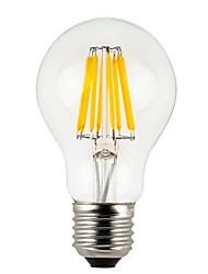 abordables -KWB 1pc 8 W 800 lm E26 / E27 Ampoules à Filament LED A60(A19) 8 Perles LED COB Décorative Blanc Chaud 220-240 V