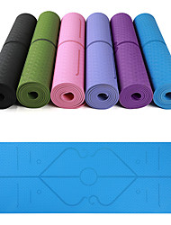 cheap -Yoga Mat 183*61*0.6 cm Eco-friendly, Multi Function, Anti Slip TPE Position Line For Yoga / Pilates / Exercise & Fitness Pink, Violet, Dark Purple