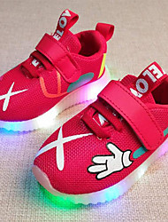 cheap -Boys' / Girls' Shoes Mesh Spring &  Fall Comfort / Light Up Shoes Sneakers Lace-up / Hook & Loop / LED for Kids / Toddler Red / Green / Pink
