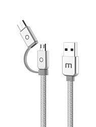 economico -MEIZU USB 2.0 Tipo C / Micro USB 2.0 Cavi, USB 2.0 Tipo C / Micro USB 2.0 to USB 2.0 Cavi Maschio / femmina 1.0m (3 piedi)