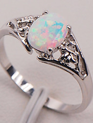 cheap -Women's Synthetic Opal Stylish / Solitaire Ring - S925 Sterling Silver Flower Shape, Pear Stylish, Natural, Elegant 6 / 7 / 8 Rainbow For Gift / Going out
