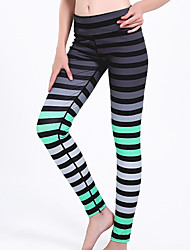 cheap -Women's Basic Legging - Striped High Waist
