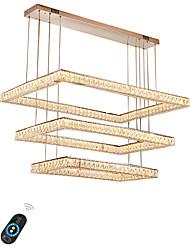 baratos -UMEI™ Cristais / Ilha / Geométrica Lustres Luz Ambiente - Ajustável, Regulável, Novo Design, 110-120V / 220-240V, Branco Quente / Branco / Dimmable Com Controle Remoto, Fonte de luz LED incluída