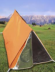 Недорогие -1 человек Туристическое укрытие для экстренных ситуаций На открытом воздухе Легкость Устойчивость к УФ Воздухопроницаемость Двухслойные зонты Карниза Палатка 1000-1500 mm для