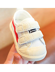 billige -Pige Sko Net Forår & Vinter Første gåsko Sneakers Magisk tape for Baby Hvid / Farveblok