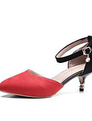 Недорогие -Жен. Конский волос Лето Удобная обувь Обувь на каблуках На шпильке Оранжевый / Красный / Зеленый / Повседневные