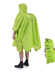 cheap -Naturehike Unisex Hiking Raincoat Outdoor Windproof, Lightweight, Rain-Proof Top Waterproof / Rain Proof Camping / Hiking / Caving / Back Country / Mountaineering