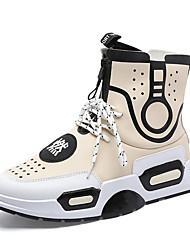 Недорогие -Муж. Полиуретан Наступила зима Удобная обувь Кеды Контрастных цветов Черный / Бежевый / Лиловый