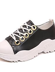 Недорогие -Жен. Обувь Полиуретан Лето Удобная обувь Кеды На плоской подошве Круглый носок Белый / Черный / Красный