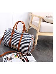 cheap -Women's Bags Polyester / Canvas Shoulder Bag Zipper Blue / Brown / Light Grey