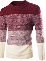 cheap -Men's Basic Pullover - Color Block