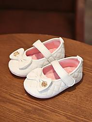 Недорогие -Девочки Обувь Полиуретан Лето Обувь для малышей На плокой подошве Бант / На липучках для Дети Золотой / Белый / Розовый