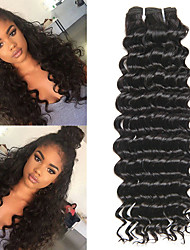 billige -6 Bundler malaysisk hår Krøllet Menneskehår Menneskehår, Bølget / Bundle Hair / Én Pack Solution 8-28 inch Menneskehår Vævninger Maskinproduceret Bedste kvalitet / Til sorte kvinder / 100% Jomfru