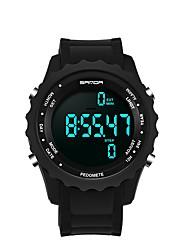 Недорогие -SANDA Муж. Спортивные часы электронные часы Японский Цифровой Черный 30 m Защита от влаги Календарь Секундомер Цифровой Роскошь Мода - Белый Черный Золотистый / Хронометр / Фосфоресцирующий