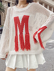povoljno -Žene Dugih rukava Širok kroj Pullover Slovo