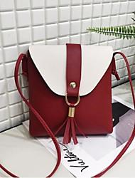 cheap -Women's Bags PU(Polyurethane) Mobile Phone Bag Buttons / Tassel Brown / Light Grey / Wine
