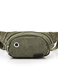 baratos -Homens Bolsas Tela de pintura Sling sacos de ombro Estampa Café / Verde Tropa / Khaki