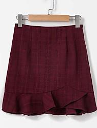 cheap -Women's Basic A Line Skirts - Plaid