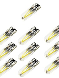 cheap -10pcs T10 Car Light Bulbs 2 W COB 150 lm 2 LED Turn Signal Light For