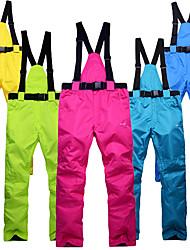 baratos -Unisexo Calças de Esqui A Prova de Vento, Prova-de-Água, Térmico / Quente Downhill / Esqui Algodão, Fibra Sintética Calças Térmicas Roupa de Esqui