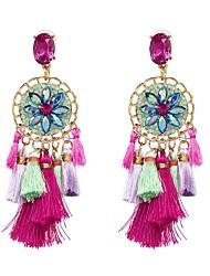 cheap -Women's Tassel / Stylish Hoop Earrings - Luxury, Holiday, Colorful Fuchsia For Wedding / Prom